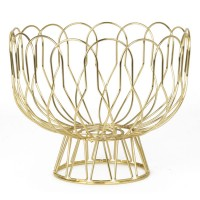 Wired Fruit Bowl - Gold - metal wire fruit dish - Present Time