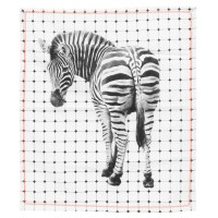 Zebra Print Tea Towel - modern animal pattern towel- Present Time