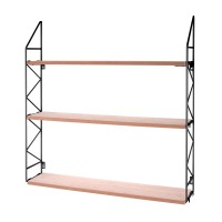 Zig Zag Wall Rack - Black - industrial shelves - Present Time