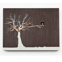 Cucu Ruku Cuckoo Clock - stylish wenge wood wall clock