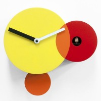 Kandinsky Cuckoo Clock - colourful wooden cuckoo wall clock