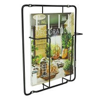 Frame-1 Magazine Rack - Matt Black - wire magazine storage
