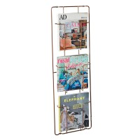 Frame-3 Magazine Rack - Copper - three compartment wall organiser