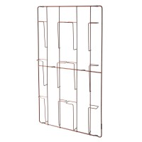 Frame-6 Magazine Rack - Copper - metal wire wall organiser