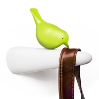 Picky Sparrow Wall Hook (Green) - Red Candy