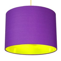 Neon Lined Lampshade (Purple & Yellow) - Red Candy