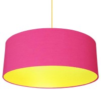 XL Drum Lampshade (Cerise & Primrose) - Red Candy