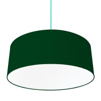 XL Drum Lampshade (Bottle Green) - Red Candy