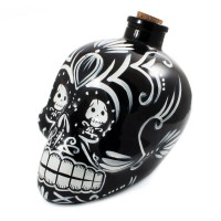 Day of the Dead Skull Decanter (Black) - Red Candy