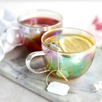 Iridescent Tea Cups (Set of 2) - Red Candy