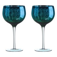 Peacock Gin Glass (Set of 2) - Red Candy
