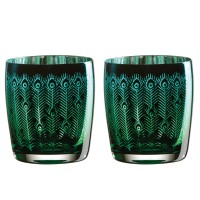 Peacock Tumbler (Set of 2) - Red Candy