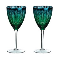 Peacock Wine Glass (Set of 2) - Red Candy