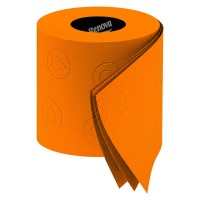 Renova Toilet Paper - funky orange toilet tissue - 3 ply