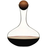 Sagaform Wine Carafe with Oak Stopper - Red Candy