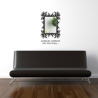 Baroque Rectangle Mirror Wall Sticker - Red Candy