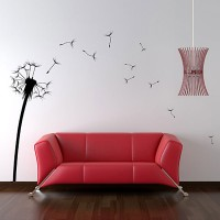 Dandelion Wall Sticker (Large) - Red Candy