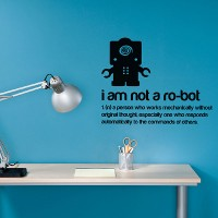 I Am Not A Robot Wall Sticker - Red Candy