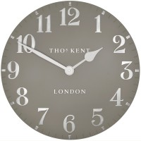 Thomas Kent Arabic Clock (20 inch Mink) - Red Candy