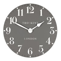 Thomas Kent Arabic Clock Dolphin - 12 Inch - grey wall clock
