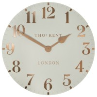 Thomas Kent Arabic Clock (20 Inch, Flint Grey) - Red Candy
