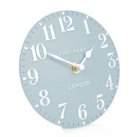 Thomas Kent Arabic Mantel Clock (6 inch, Stonewash Blue) - Red Candy