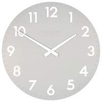 Thomas Kent Camden Clock Smoke - 20 Inch grey designer wall clock