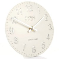 Thomas Kent Cotswold Mantel Clock (6 Inch Snowberry White) - Red Candy