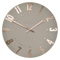 Thomas Kent Mulberry Clock (20 Inch Rose Gold) - Red Candy