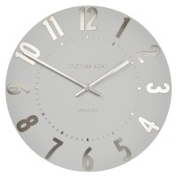 Thomas Kent Mulberry Clock Silver Cloud - 20 Inch designer clock