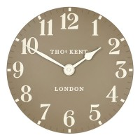 Thomas Kent Arabic Clock Taupe - 12 inch grey wall clock