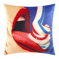 Seletti Toiletpaper Toothpaste Cushion (Cover Only) - Red Candy