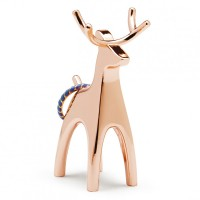 Umbra Anigram Ring Holder - Copper Reindeer - stag ring stand