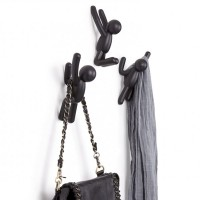 Umbra Buddy Hooks in Black - black novelty clothes hooks