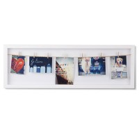 Umbra Clothesline Flip Photo Display - white modern photo holder