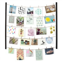 Umbra Hangit Photo Display - Black - clothesline wall display