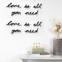 Umbra Mantra Love Wall Decor - all you need is love wall text