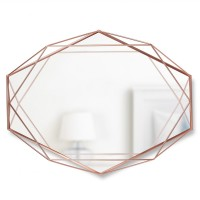 Umbra Prisma Mirror - Copper - wire frame geometric mirror