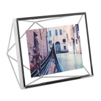 Umbra Prisma Photo Frame 4x6 - Chrome - geometric photo display