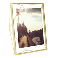 Umbra Prisma Photo Frame 8x10 - Brass - geometric photo display