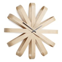 Umbra Ribbonwood Wall Clock - Natural - wooden clock