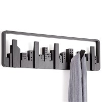 Umbra Skyline Multi Hook - black cityscape coat rack