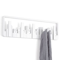 Umbra Skyline Multi Hook - White contemporary coat hook