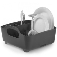 Umbra Tub Dish Rack - Smoke - grey modern plate drainer