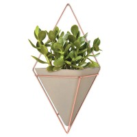 Umbra Trigg Wall Vessel Large - Copper - hanging wall caddy