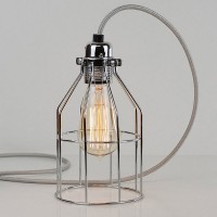 Bird Cage Lamp (Polished Steel) - Red Candy