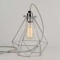 Diamond Cage Lamp (Polished Silver) - Red Candy