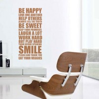 Be Happy Wall Sticker - happy house rules wall decor