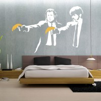 Banksy Pulp Fiction Wall Sticker - graffiti wall decor