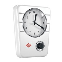 Wesco Classic Line Kitchen Clock - White - kitchen timer clock